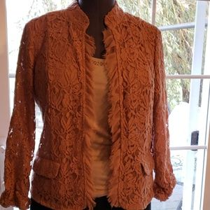 Chico's lightweight lace jacket